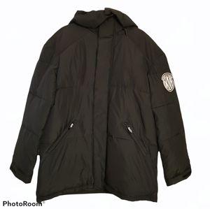 DKNY men's Water Resistant winter Puffer Jacket coat. Size Large. Dark Green